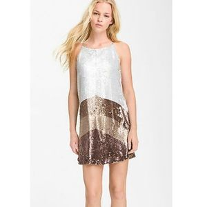 Parker Sequin Silk Cocktail Dress Size Small